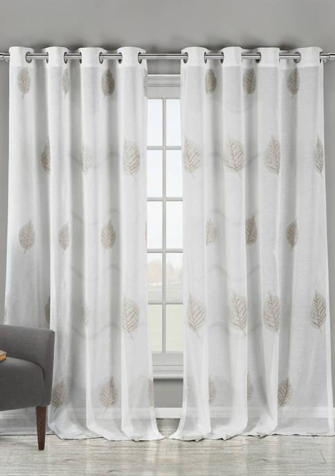 Set of 2 Patsa Medallion Window Curtains