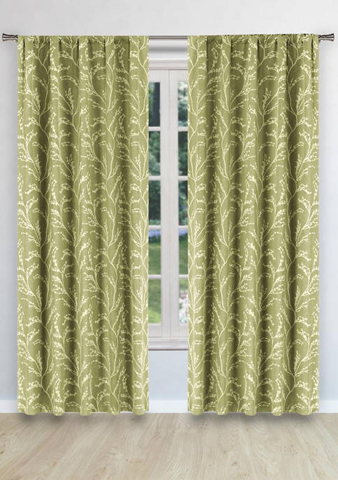 Roryfaux Woven Branches Window Curtain Window Set