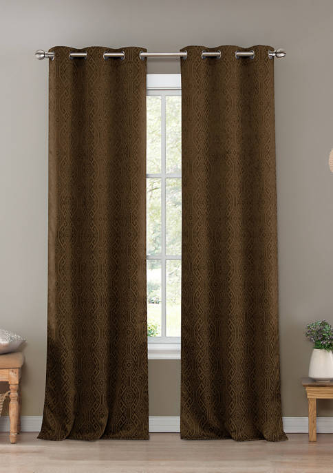 Kelvin Set of 2 Santo Solid Blackout Curtains