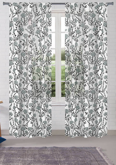 Set of 2 Willabelle Floral Window Curtains