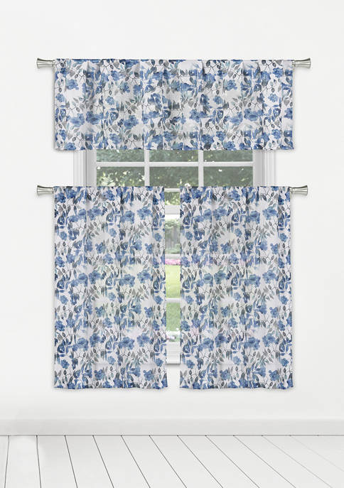 Home Maison Xabi Floral Window Curtain Set