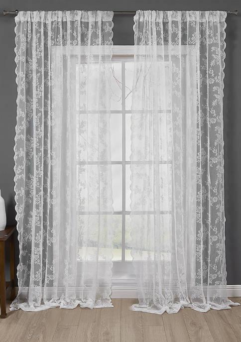 Zakaree Floral Window Curtain Set