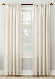No. 918 Amalfi Linen Blend Textured Sheer Rod Pocket Curtain Panel
