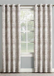 Darren Distressed Global Blackout Lined Grommet Curtain Panel