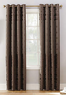 Elidah Velvet Texture Medallion Blackout Grommet Curtain Panel