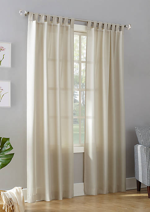 Jacob Semi-Sheer Tab Top Curtain Panel