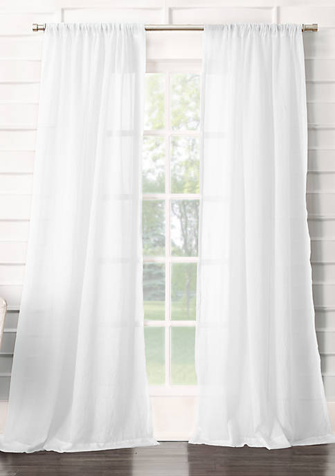 No. 918 Leland Semi-Sheer Rod Pocket Curtain Panel