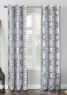 Sun Zero™ Nepal Global Print Blackout Grommet Curtain Panel