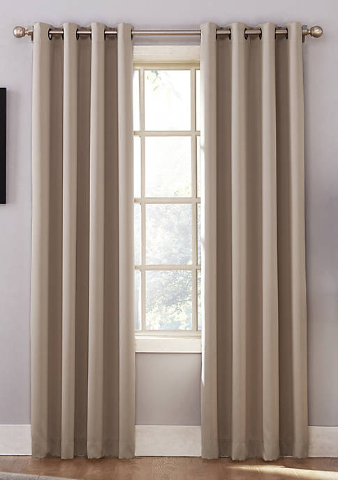 Oslo Grommet Home Theater Grade Extreme Blackout Grommet Curtain Panel