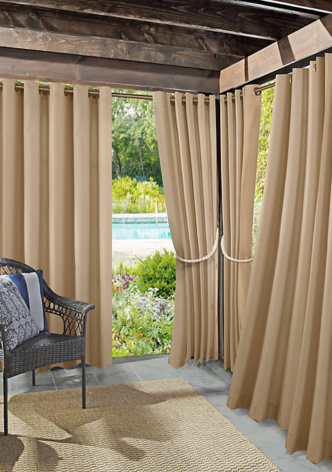 Roku Woven Indoor/Outdoor UV Protectant Curtain Panel