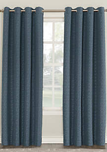 Tarran Geometric Textured Blackout Lined Curtain Panel