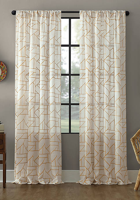 Archaeo Jigsaw Embroidered Curtain