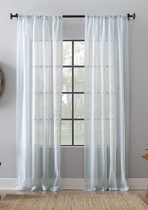 Ticking Stripe Sheer Curtain