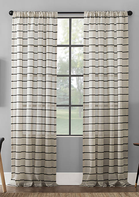 Clean Window Twill Stripe Curtain Panels
