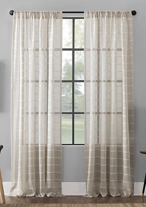 Twill Stripe Curtain Panels