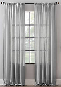 Clean Window Leno Weave Stripe Curtain Panel