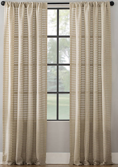 Modern Check Pattern Curtain Panel