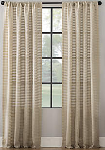 Clean Window Modern Check Pattern Curtain Panel