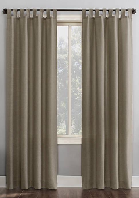 Jacob Heathered Texture Semi-Sheer Tab Top Window Curtains