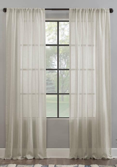 Crushed Texture Anti-Dust Sheer Window Curtain