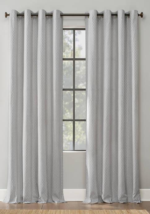 Archaeo Art Deco Cotton Grommet Top Window Curtain