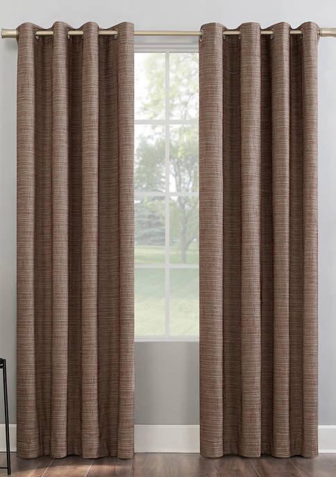 Kline Burlap Weave Thermal Extreme 100 Percent Blackout Grommet Window Curtains