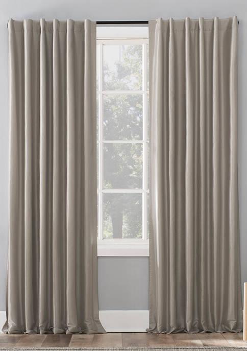 Evelina Faux Dupioni Silk Thermal Extreme Blackout Back Tab Window Curtains