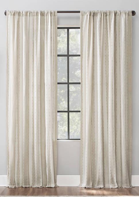 Archaeo Slub Texture Stripe Cotton Window Curtain