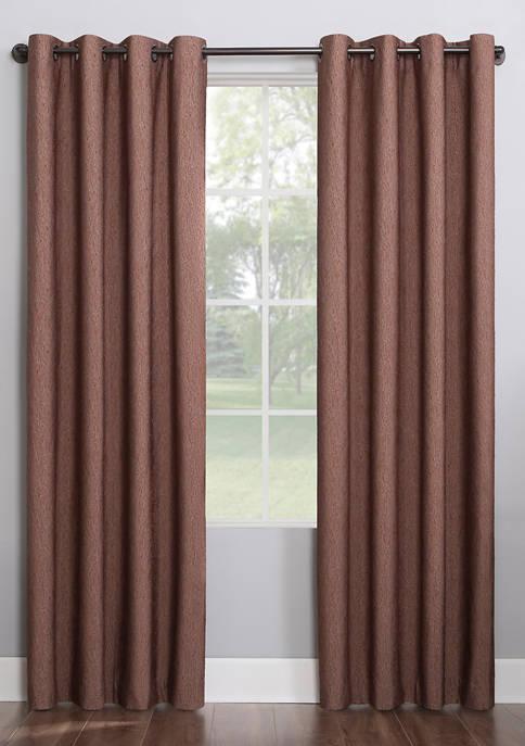 Noir Dimensional Thermal Extreme 100 Percent Blackout Grommet Window Curtains