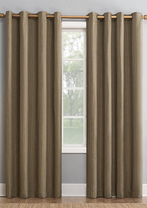 Gavlin Crosshatch Jacquard Thermal Extreme Blackout Grommet Curtain Panel