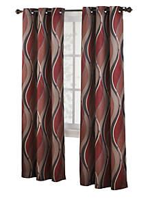 Intersect Grommet Woven Print Window Panel - 48-in. x 84-in.