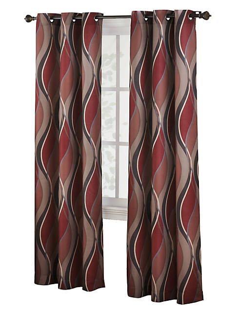 Intersect Grommet Woven Print Window Panel