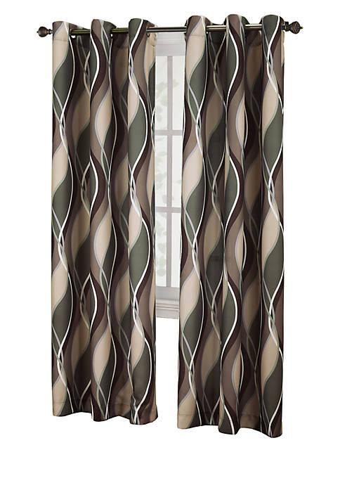 No. 918 Intersect Grommet Woven Print Window Panel