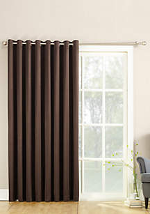 Sun Zero Taylor Extra Wide Grommet Window Patio Panel with Wand