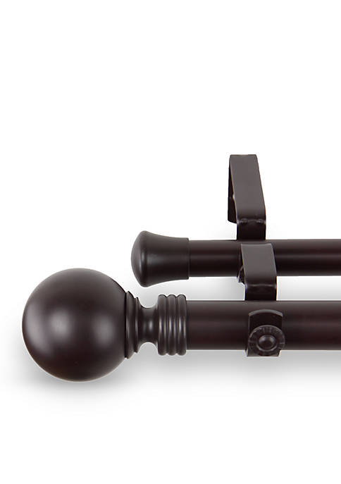 Globe Double Curtain Rod 28-in. - 48-in.