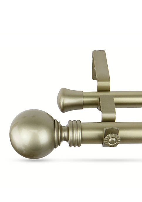 Rod Desyne Globe Double Curtain Rod 120-in.
