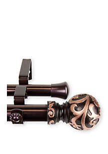 Rod Desyne Cypress Expandable Double Curtain Rod