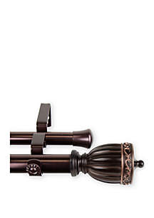 Rod Desyne Debussy Expandable Double Curtain Rod