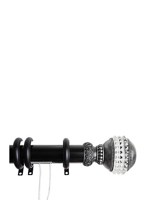Rod Desyne Decorative Traverse Rod with Rings Gemstone