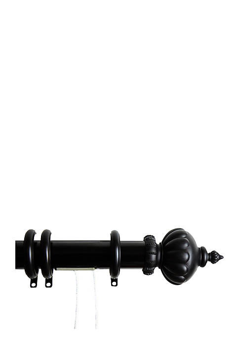 Decorative Traverse Rod with Rings Imperial Finial