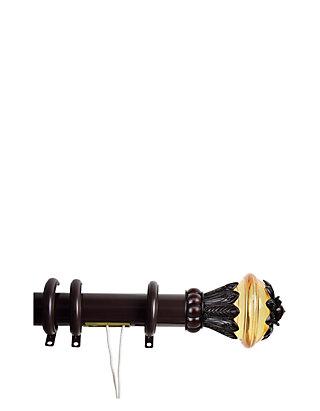 Rod Desyne Decorative Traverse Rod With Rings Paradise Finial Belk