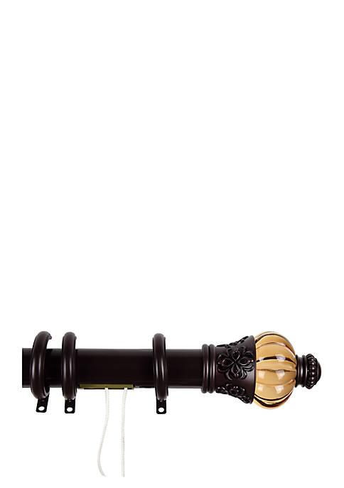Rod Desyne Decorative Traverse Rod with Rings Royal