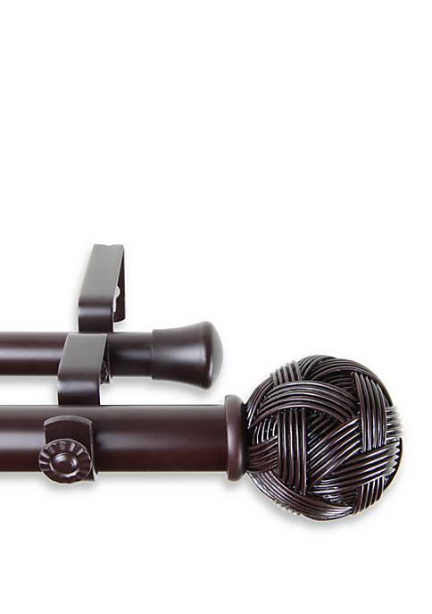 Rod Desyne Twine Adjustable Double Curtain Rod