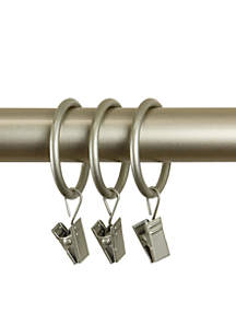 Curtain Rings with Clips 1.38-in.