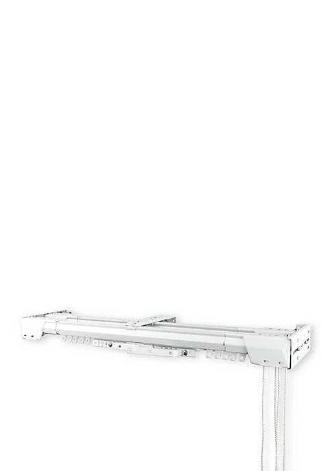 Center Open Double Traverse Curtain Rod 84-in. - 156-in.