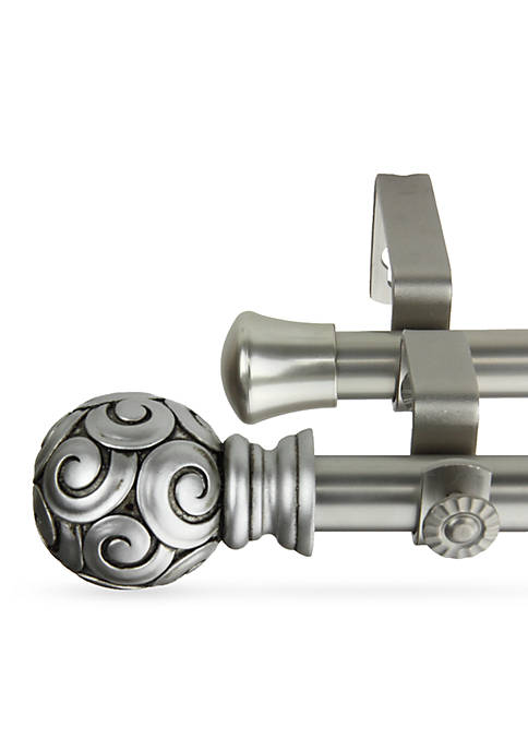 Rod Desyne Bonbon Double Curtain Rod 28-in.