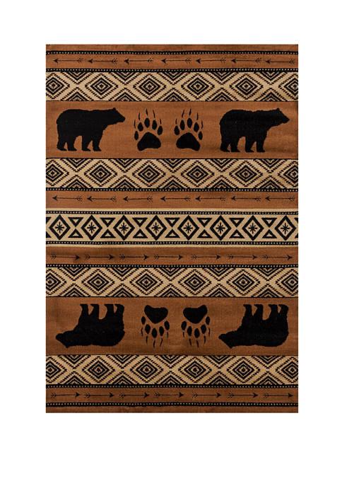 Woodside Bear Imprint Rug Collection