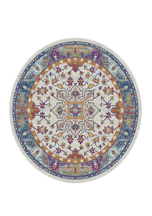 Bali Cyprus Blue Round Rug 7 ft 10 in
