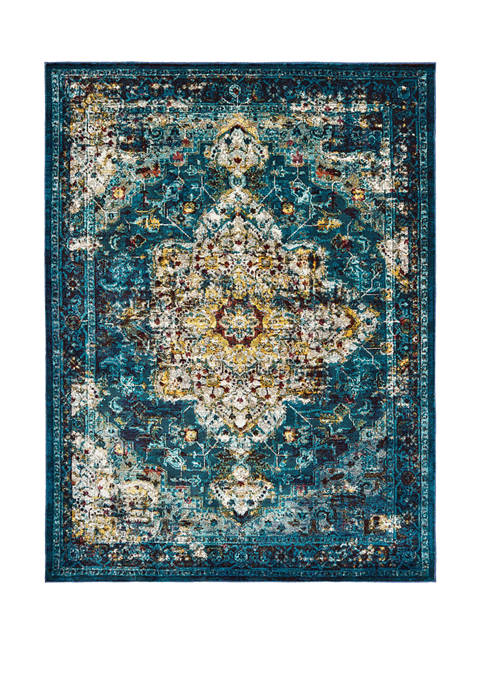 United Weavers Bohemian Bahama Aqua Accent Rug 1