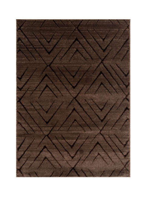 Mystique Aisling Brown Oversize Rug 7 ft 10 in x 10 ft 6 in